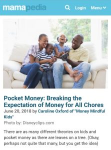Pocket Money: Breaking the Expectation of Money for All Chores