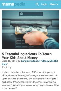5 Essential Ingredients to teach your kids about money