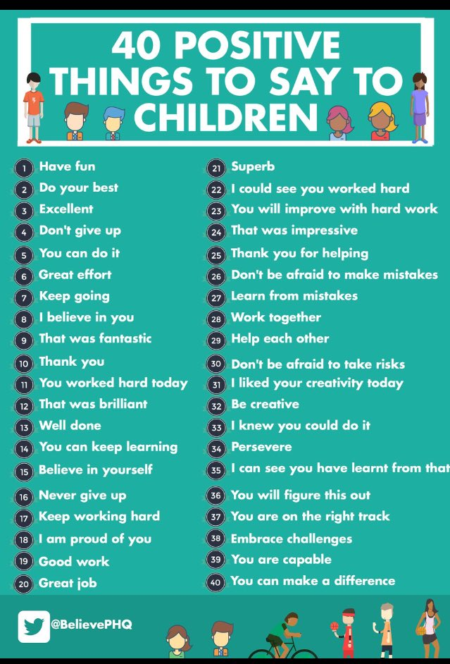 40 Positive Things to Say to Children